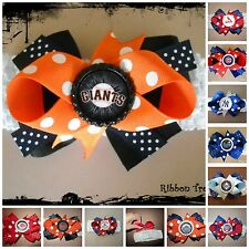 MLB Team Hair Bow With or W/O Headband Baby Toddler *Your Choice *SHIPS FREE