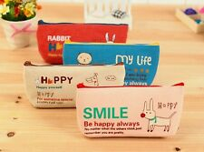 Canvas Animal Pencil Case Coin Stationery Pouch Cosmetic Purse Waterproof Bag