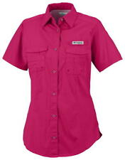 "NEW WOMENS COLUMBIA PFG ""Bonehead"" SHORT SLEEVE FISHING SHIRT NWT"