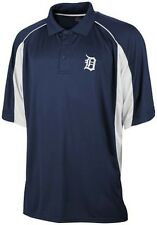 Detroit Tigers MLB Majestic Men's Birdseye Navy Blue Polo Shirt Big & Tall Sizes