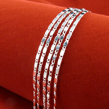 """16""""-30""""925 Sterling Silver 2MM Shiny Curb Flat Chain Necklace 1pc crazy purse"""