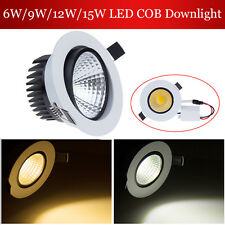 6W 9W 12W 15W Dimmable COB Bombilla LED Ceiling Spot Down Light Bulb +Driver kit