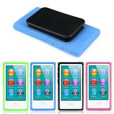 New TPU Rubber Gel Soft Case Cover Belt Clip For iPod Nano 7 7G 7th Gen split