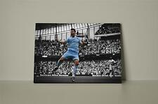 Sergio Aguero Manchester City 002 Framed Canvas Up to 10% off Winter Sale