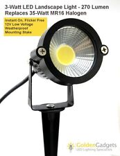 12V Low Voltage 3-Watt LED Landscape Spot Light Fixture 270 Lumen Warm White