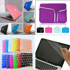 "4in1 Rubberized Matte Hard Case Cover Bag for MacBook Air White Pro 11"" 13"" 15"""
