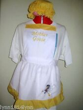 LADIES MOTHER GOOSE COSTUME APRON & MOP TOP HAT Made to all sizes