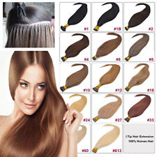 """100% REMY REAL HUMAN HAIE 100 S 18""""20""""22""""26"""" Stick Tip Hair Extensions Long OEM"""