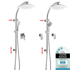 WELS Multifunction 2 In 1 Rainfall Handheld Shower Head Sliding Rail Mixer Tap