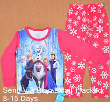 Frozen Olaf Girls Toddler Pyjamas T-shirt PJ Sleepwear Set Kids Gift Costume 1-6