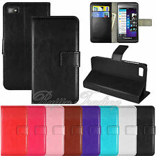 For Blackberry Z10 PREMIUM PU Leather Wallet-Style Case Flip Cover