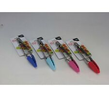 Stainless Steel Tongs 18CM With Silicon Heads, In 4 Colours (B4U)