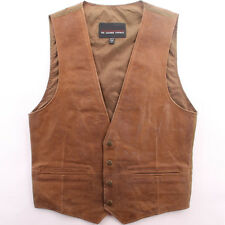Leather Vest Classic Western Cowboy mens Motorcycle Vest new