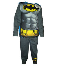 Boys Batman Superman Spiderman Costume Novelty Pyjama PJ With Cape Age 2--8 Yrs