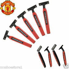 NEW 100% OFFICIAL MANCHESTER UNITED FC DISPOSABLE TWIN BLADE RAZORS MANU MAN UTD