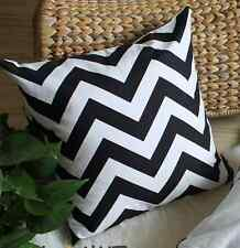 Chevron Striped Accent Decorative Cotton Canvas Throw Pillow Cover Cushion 18x18