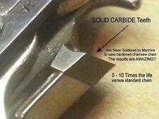 *SOLID CARBIDE* Chainsaw - ALL LENGTHS - NOT Coated - RAPCO Equivalent SEE VIDEO