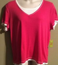 "Women's Plus Size ""Made For Life"" Activewear Sort sleeve top shirt Pink NWT"