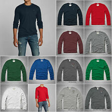 ABERCROMBIE & FITCH MEN`S LONG SLEEVE  TEE SHIRT MOOSE CREEK SIZE S,M,L,XL,XXL