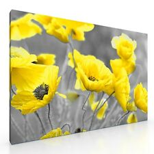 """Large Poppy Flowers Floral Canvas Picture Print Artwork. 20""""x30"""". New Wall Art."""
