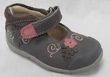 BNIB Clarks Girl Softly Mya Grey Leather First Shoes E/F/G/H Fitting