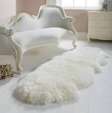 Genuine Sheepskin Rug double Pelt  WHITE 2 x 6 By Artic Rugs