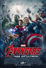 THE AVENGERS 2 AGE OF ULTRON Movie Poster Marvel Comics Iron Man Hulk Thor A