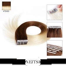 "Neitsi 20"" 50g 20pcs Human Straight Tape In Hair Glue Weft Hair Extension"