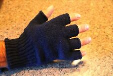 NWT Wool Fingerless Gloves Man Woman Navy Blue Green Black Size -Sm Med LG USA