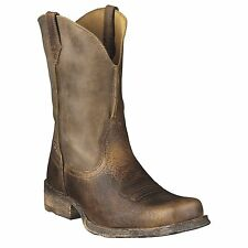 Mens Ariat Rambler Boots Square Toe Earth Brown Bomber New In Box Free Shipping