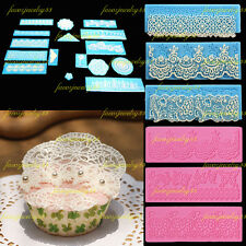 New Silicone Flower Lace Mat Fondant Mould Sugarcraft Cake Icing Decorating Tool