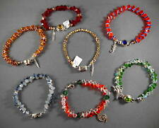 "Handmade 7+"" College Crystal/925 Sterling Silver Bracelets-Pick Bead Colors"