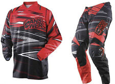 ANSWER Syncron RED Pant Jersey Combo YOUTH Motocross/MX/ATV/Off-Road Gear Honda
