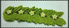 Hand crocheted 20 or 40 a pair of leaves, that are hooked together.