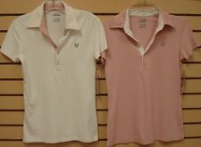 New ELEVEN by VENUS WILLIAMS Womens Polo Shirt Tennis,Sport, 5% Lycra,Made in US