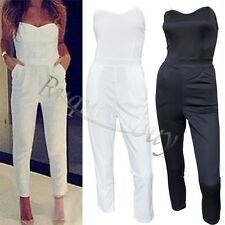 Sexy Womens Ladies V Neck Sleeveless Bodycon Jumpsuit Romper Trousers Clubwear