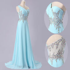 BEADED Bridesmaid Long Bridal Dress Party Prom Ball Gown Formal Evening Dresses