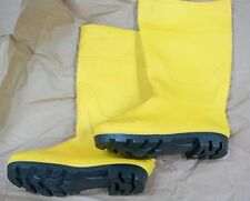 100% Waterproof PVC Rubber Rain Snow Boot Non Steel Toe Black Green Yellow