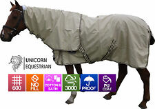 Unicorn 600D Ripstop 100% Waterproof Horse Rug No Fill Cotton Lined Rainsheet