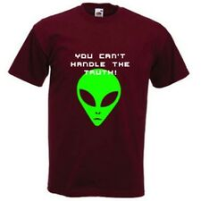 YOU CAN'T HANDLE THE TRUTH UFO X FILES ALIEN COTTON T SHIRT TOP