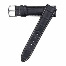 Hadley-Roma Men's Matte Stitched Alligator Grain Watch Band Strap 20mm MS834