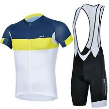 New Sports Bicycle Bike Cycling Clothing Wear Shirt Jersey Bib Shorts Sets S~3XL