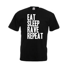 Eat Sleep Rave Repeat Mens Funny Custom Personalised T-Shirt, Gift, Present, NEW