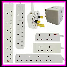 2 4 6 GANG WAY UK PLUG EXTENSION LEAD CABLE SOCKET CE MARKED MAINS SOCKETS