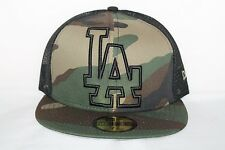 New Era 5950 Los Angeles Dodgers Woodland Camo Meshback Fitted Baseball Cap