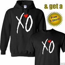 XO OVOXO the weeknd drake WHITE RED logo ovo Hooded Sweatshirt Hoodie XO! ~NEW