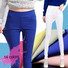 Women Fashion  High Waist Slim Trousers Stretch Skinny Leggings Pencil Pants