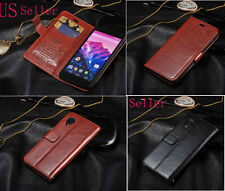 Luxury Folio Wallet Leather Case Cover Stand For LG Google Nexus 4 E960