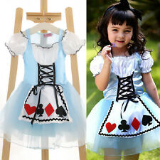 Kids Girl Fairytale Book Week Princess Movie Character Alice Fancy Dress Skirt