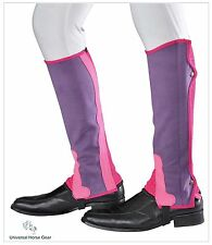 Borraq Purple & Pink Ammara Half Chaps with Elasticated Gusset